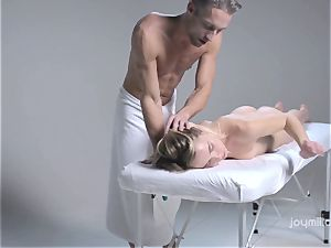 Deep glamour massage for the pale gentle Alecia