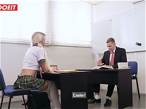 LETSDOEIT - French schoolgirl nailed rock-hard at The Gym