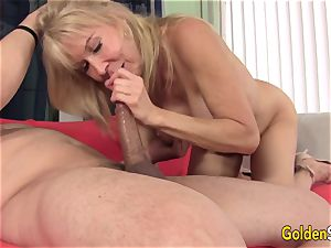 promiscuous grannie Erica Lauren Gets Her Mature honeypot Eaten and boned