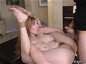 hairy buxom sandy-haired ball sack deep anal pummeled