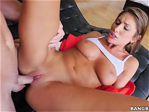 OMFG! I spotted my sis August Ames fingering her vag, and I want to tear up her