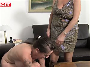 LETSDOEIT - Mature Swinger duo Help Their granny jizz