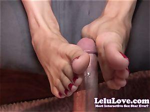 Lelu Love-Toe gargling Footjob cumshot