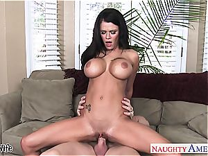huge-titted wifey Peta Jensen take penis