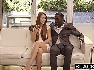 BLACKED ginger-haired Kimberly Brix first gigantic ebony chisel