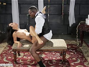 Groom with his greatest acquaintance penetrate Bride in the basement