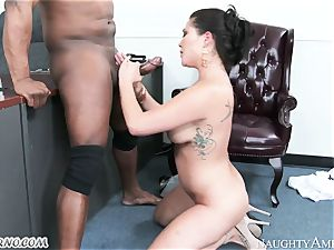 multiracial porno with wanton asian and the strong Negro