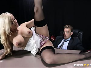 sloppy manager is given a poundable ass-fuck fantasy by Britney Amber