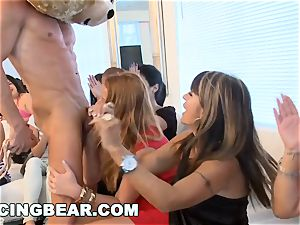CFNM hotel party with hefty manhood male Strippers