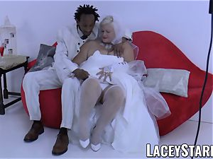LACEYSTARR - granny bride fed with jism after pummeling