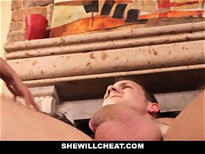hotwife hubby sees Wifes cooch Get destroyed