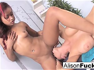 gorgeous flesh uses her thumbs and hatch to massage Alison