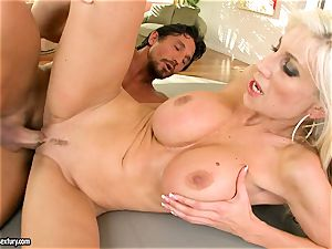 Alluring Puma Swede gets her coochie rammed with wood