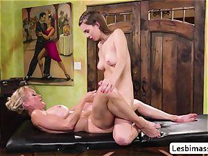 Brandi love and Jill Kassidys scorching ejaculation with scissor hump