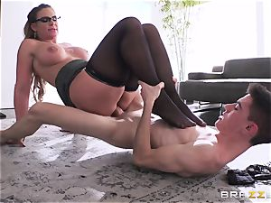 young amateur student gets his prick deep throated by fierce big-chested lecturer Phoenix Marie