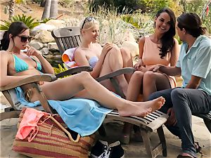 The Getaway Pt 3 demonstrating fabulous lesbians Dillion Harper and Charlotte Stokely