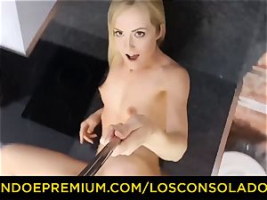 LOS CONSOLADORES - Hungarian blonde gets plowed point of view
