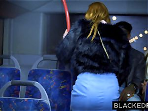 BLACKEDRAW 2 beauties pulverize massive bbc On Bus!