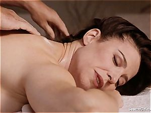 fabulous Mimi Rogers gets her whole body kneaded