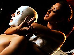 busty dark haired Capri pounds an aspiring luchador