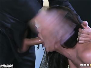 uber-sexy mature whore Nicole Aniston with giant udders gets buttfucked and splattering