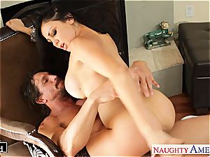 Alluring Audrey Bitoni antsy for a ample fuckpole to handle her right