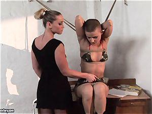 Kathia Nobili and C J honey binding of mitts