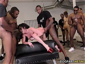 Jennifer white multiracial gang-fuck