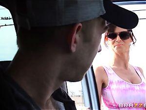 uber-sexy stepmom Syren Demer romps her stepsons large stiffy