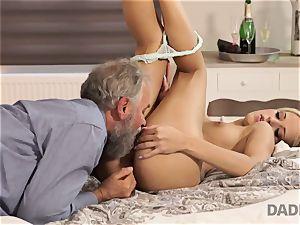 DADDY4K. chick rails elder gent s joystick in father porn flick