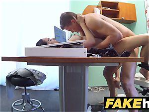 faux health center Doctors manhood stretches warm Portuguese babe