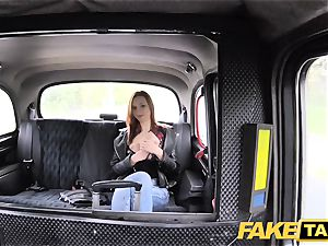 faux taxi slim red-haired enjoys raunchy fuckfest