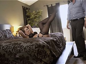 Nylons Sn 5 Britney Amber wears sumptuous stockings as she bangs
