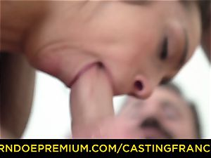 casting FRANCAIS - inexperienced cutie plumbed and cum glazed