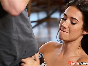 Eva Lovia minge eaten and fuckbox filled ballsack deep