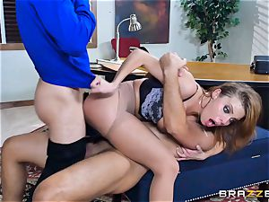 Britney Amber getting fucked in her booty and honeypot