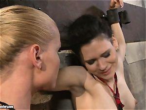 Kathia Nobili tantalizing a kinky school dame