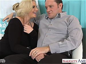 steamy wife Phoenix Marie gets pinkish cootchie screwed