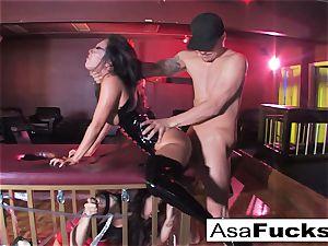 Sophia Santi eats Asa Akiras Creampied Pussyhole