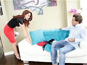 red-haired cougar Monique Alexander boinks a snooping toyboy