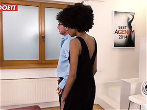 LETSDOEIT - dark-hued teen jizzes multiple Times At audition