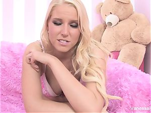 Interview and screwing with blondie cutie Vanessa cage