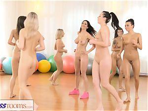 fitness apartments girl/girl threeway sport pummel fest