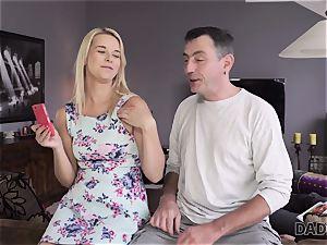 DADDY4K. dad and youthfull gal enjoy assfuck fuck-fest near his sleeping sonnie