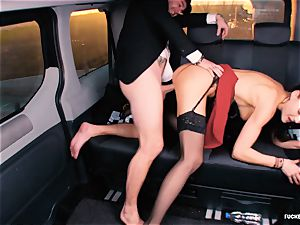 torn up IN TRAFFIC - british Tina Kay drilled in the car