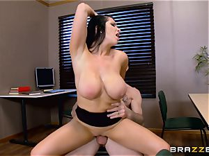 Romi Rain gasping on a hard beef whistle