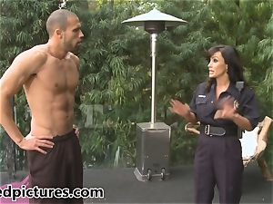big-titted cop Lisa Ann gives out her beef whistle penalty