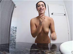 splendid Haley Reed and Eva Lovia vagina hitting threeway