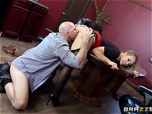 torrid chief Nicole Aniston taking a meaty trouser snake in the office