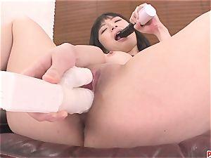 playthings pummeling Hina Maeda cootchie Makes Her spray